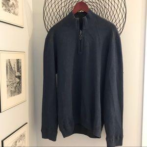 Very nice material! Reversible 1/4 zip sweater